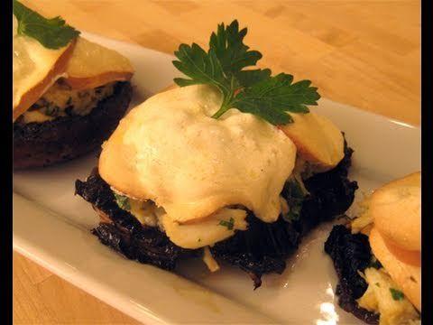 """Crab Stuffed Portobello Mushrooms Recipe Video - Laura Vitale """"Laura In The Kitchen"""" Episode 31"""