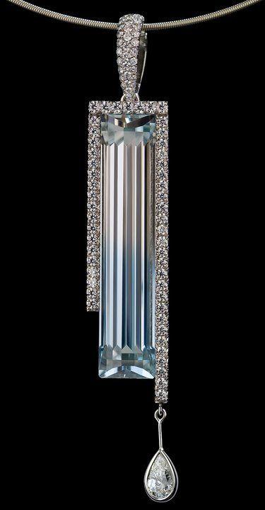 .. This Art Deco piece so beautiful... (Bi-color Topaz Pendant, by Richard Krementz