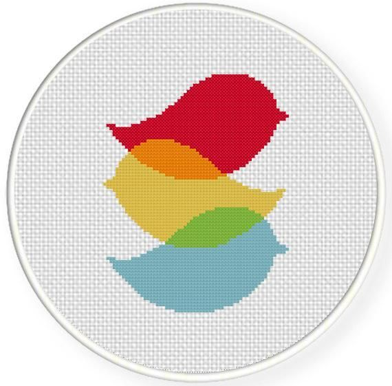 Looking for your next project? You're going to love Three Birds Cross Stitch Pattern by designer teamembro3703945.