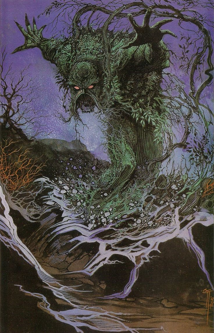 Swamp Thing by Stephen R. Bissette #swampthing #dccomics #comic