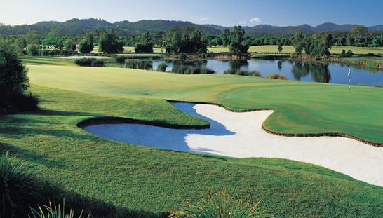 2 for 1 golf at The Glades Golf Club. Enjoy one of Australia's most prestigious resort golf courses with a mate while only paying for one! #golf #golf2for1 #golfqld