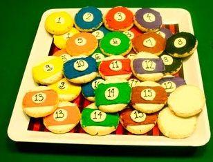 Billiards Pool ball cookies