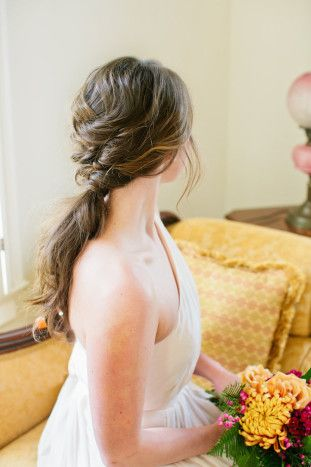 beautiful braided ponytail hairstyle | Shannon Morse Photography