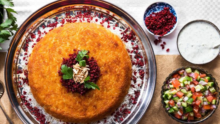 Baked Persian Rice (Tahchin) Recipe