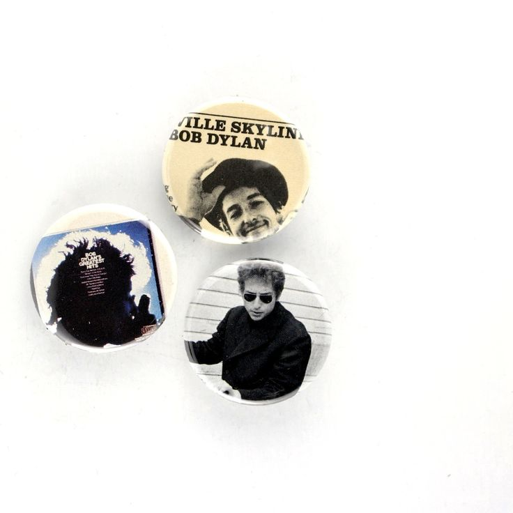BOB DYLAN Pins Nashville Skyline Buttons 60s Rock Icon Badges by JeepsterVintage on Etsy