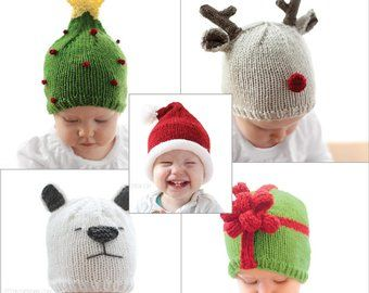 Christmas Tree Hat KNITTING PATTERN   My First Christmas ... 6444ceae0d00