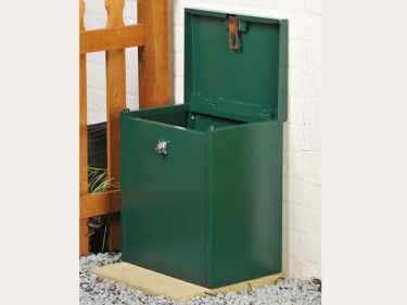Medium Parcel Box Bolted To The Ground Driveway