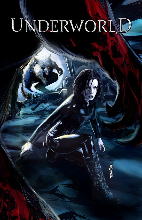 Underworld Evolution Color by Garrie Gastonny Just had to pin this. Underworld is one of my favorite fantasy films.