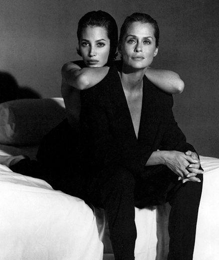 Lauren Hutton and Christy Turlington by Steven Meisel, 1991