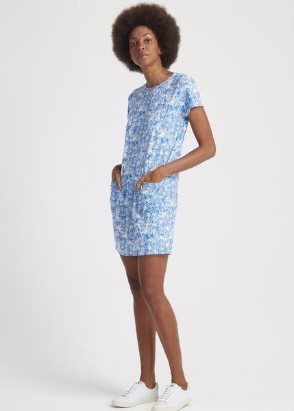 Blue Gorilla Print Shift Dress - Sancho's Dress