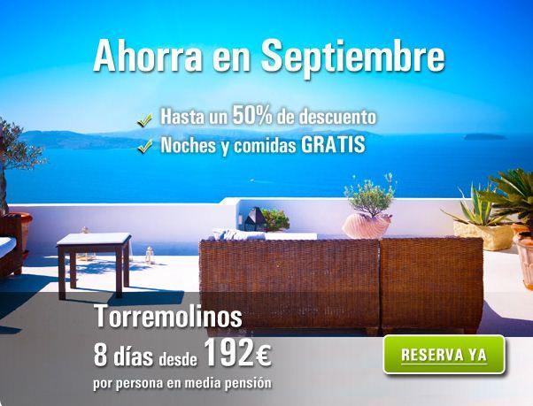 Ofertas en Hoteles de Playa en septiembre. Hasta un 50% de decuento y noches y comidas gratis. 8 días desde 192€ http://www.rumbo.es/hoteles/promo/ultima-hora/ofertas-hoteles-playa