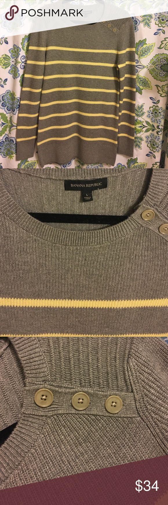 BANANA REPUBLIC  Size L NWOT Long Sweater NWOT,perfect sweater to wear over leggings or skinny jeans.Machine wash . Banana Republic Sweaters Crew & Scoop Necks