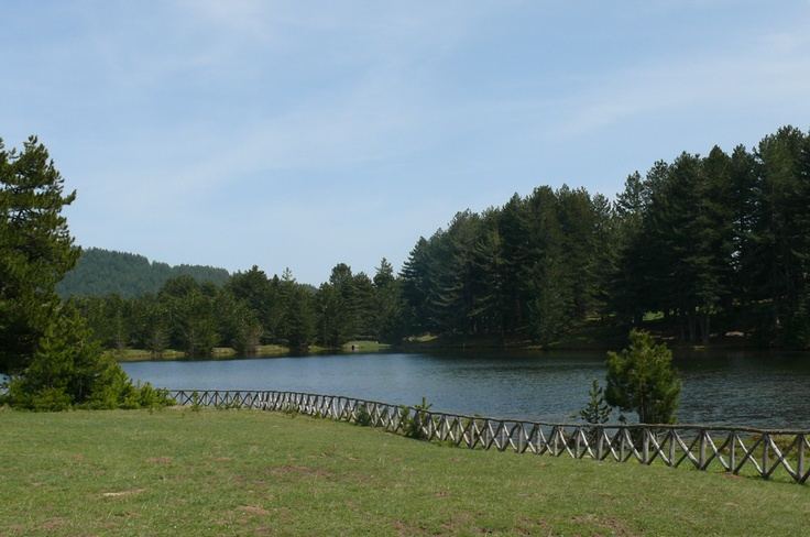 #Trekking in #Sila #Calabria: a little lake at Macchialonga