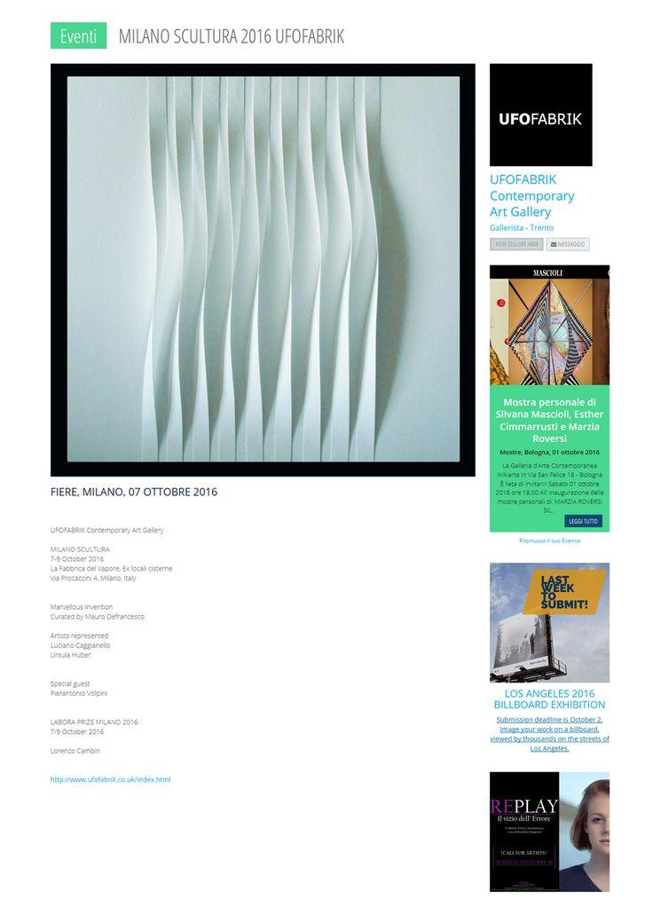 Milano scultura - Fabbrica del Vapore 7-8-9 ottobre 2016 http://www.premioceleste.it/ita_artista_news/idu:54873/idn:37496/  http://www.stepartfair.com/