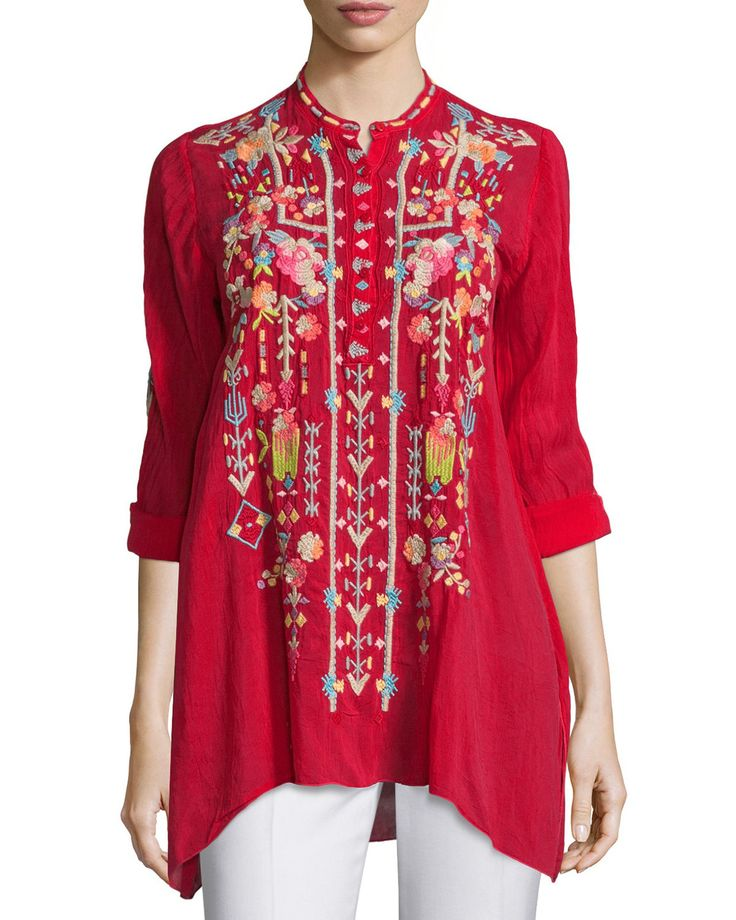 Jezabelle Embroidered Tunic Top by Johnny Was