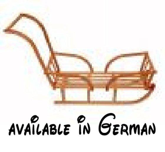 Zwillingsrodelset 5 S. Zwillingsschlitten. Schlitten für 2 Kinder. Davoser Schlitten 110 cm und extra langer Sitzfläche. Mit 2 stabilen Holz-Kinderlehnen (eine davon mit Schiebevorrichtung). inkl. Zugseil mit Glöckchen #Baby #BABY_PRODUCT