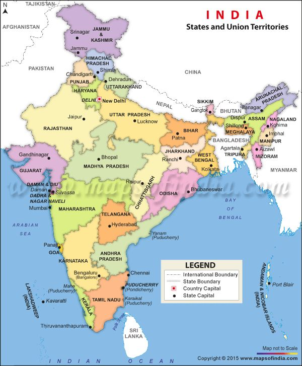 India Political Map, Political Map of India