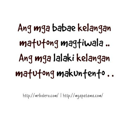 Simple Quotes About Friendship Tagalog : Tagalog love quotes on
