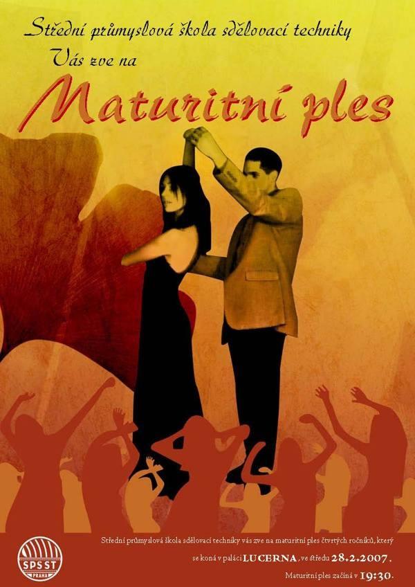 Maturitní ples poster