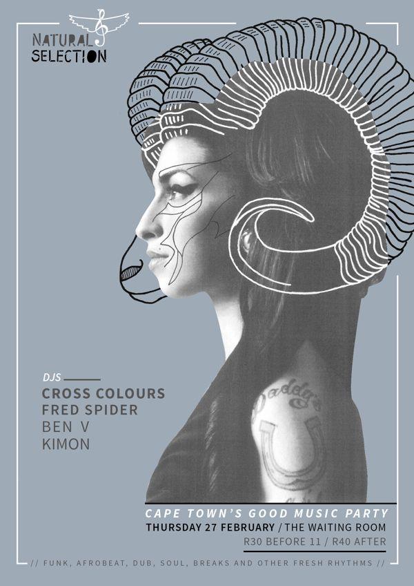 Amy Winehouse   2014 Natural Selection Poster Series by Natasha Viljoen, via Behance