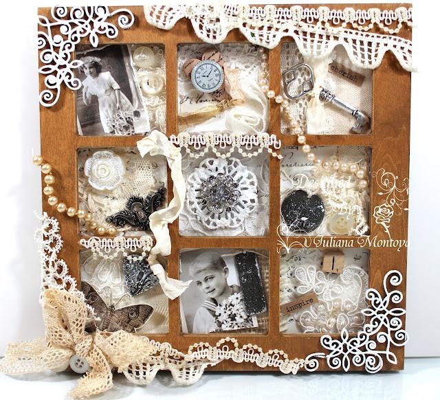 Vintage Shabby Shadow Box: Vintage Shadows, Crafts Ideas, Crafts Lace, Vintage Shabby, Shabby Chic, Shabby 7Gypsi, Shadows Boxes, 7Gypsi Shadows, Altered Art
