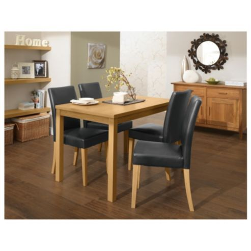 Banbury 4 Seat Dining Table Set Oak Effect