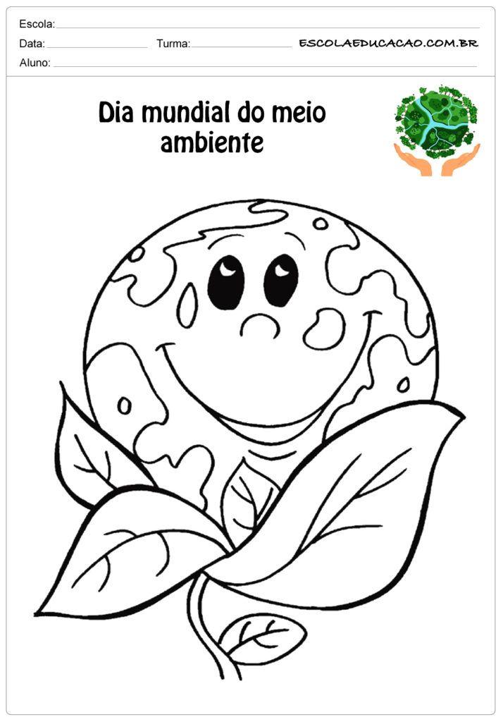 Desenhos Para Colorir Sobre O Meio Ambiente Com Imagens