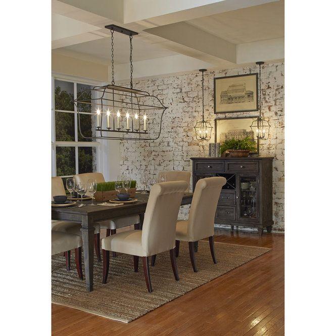 Traditionally Debonair Island Chandelier Dining Room Combo Dining Room Design Dining Room Remodel