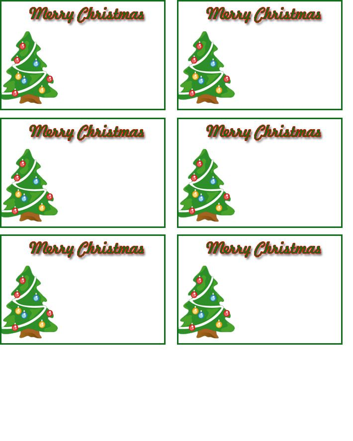 Free Printable Name Tags Templates | Holiday | Pinterest ...