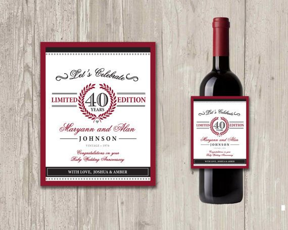 Traditional 40th Wedding Anniversary Gifts: 1000+ Ideas About 40th Anniversary Gifts On Pinterest