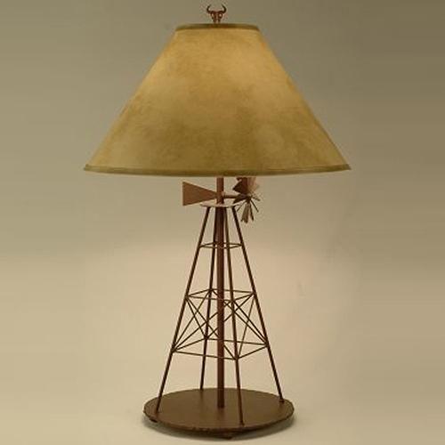 Windmills decor | Windmill Table Lamp at Rocky Mountain Cabin Decor