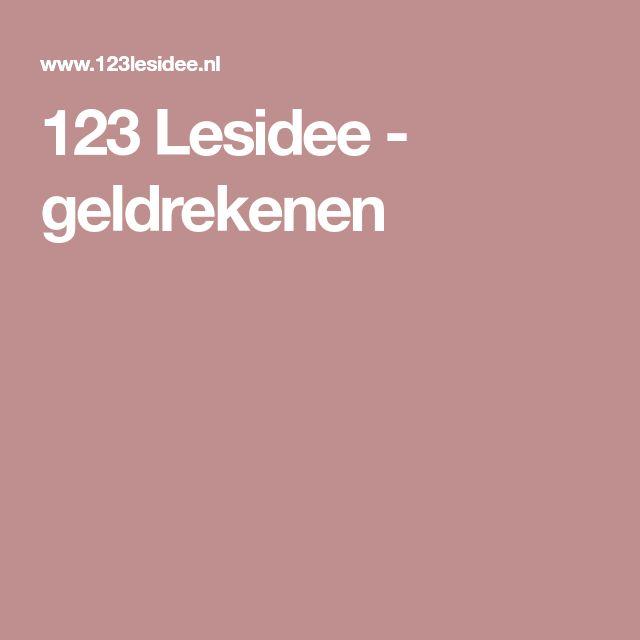 123 Lesidee - geldrekenen