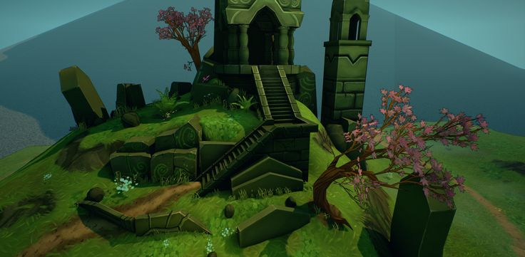 UE4 Hand-Painted Environment: Temple on a Hill - polycount