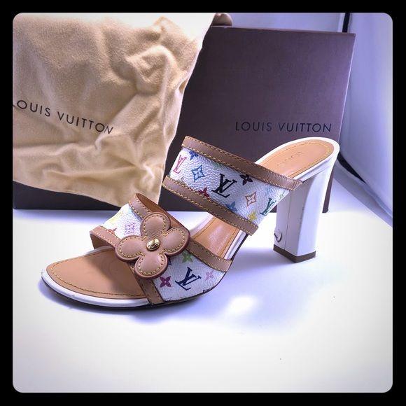 Authentic Louis Vuitton block heel