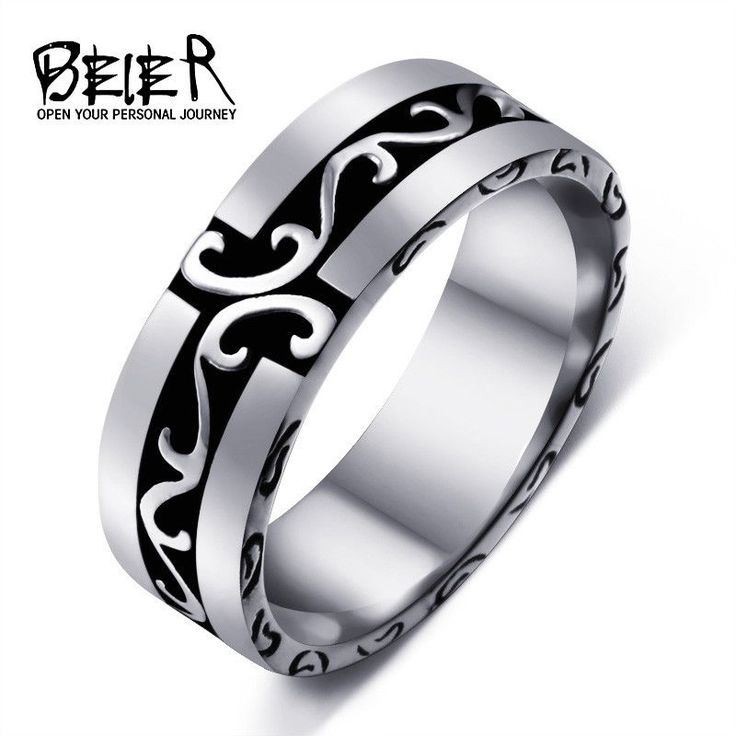 Beier new store 316L Stainless Steel Simple Ring Wholesale top quality men ring fashion jewelry LLBR8-297R