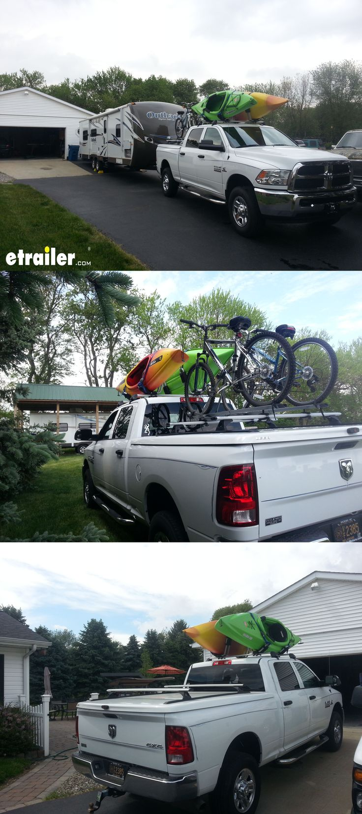 The Dodge Ram Pickup is the ultimate camping, hiking and adventure machine! Transport your gear using the Rhino-Rack RS 2500 Roof Rack this summer and make sure your kayaks and bikes get to and from the destination safely!