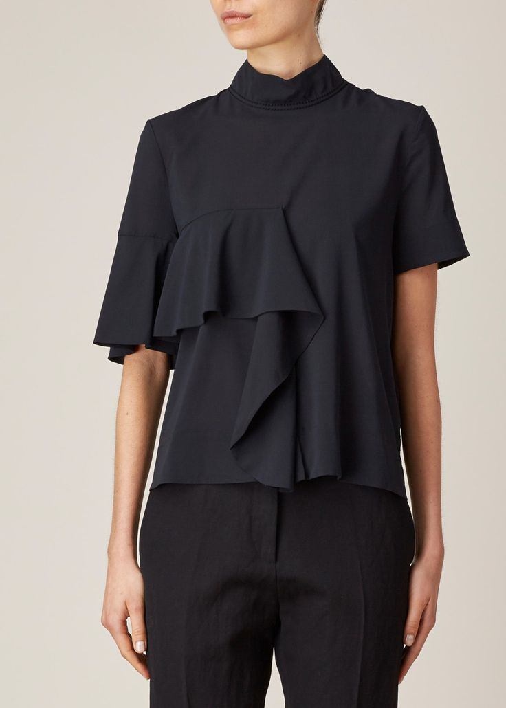 Marni Ruffle Front Top (Black)