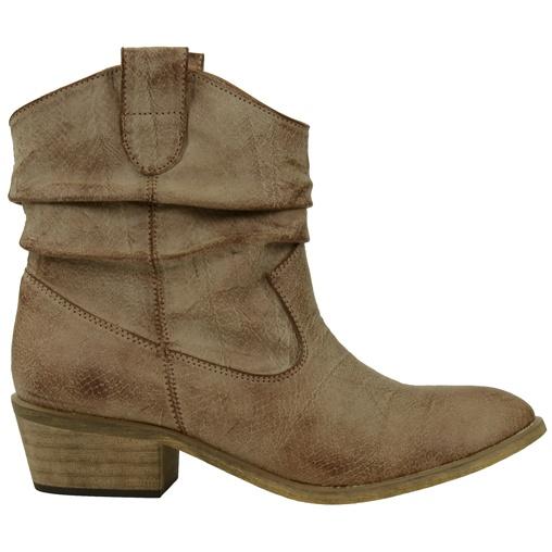 SACHA // Korte bruine Cowboy laarzen met slangenprint  €59,95