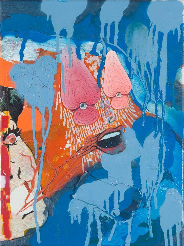 VAN ALLENIN VYÖHYKE Artist: Aleksi Tolonen, 2014. Painting, acryl and marker on hardboard. 30x40 cm. More art from Aleksi Tolonen at www.tabulaland.com/tuote-osasto/taiteilijat-osasto/aleksi-tolonen/
