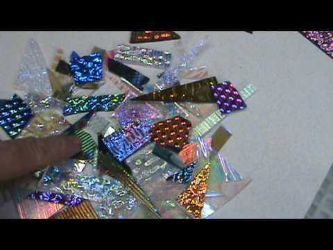 Dichroic cabochons and scrap 1b - How to Fuse Glass - Dichroic Glass Man