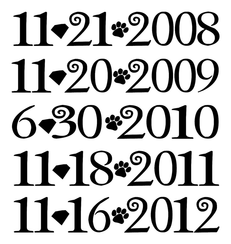 Twilight Saga Movie Release Dates Iron On Tshirt Transfer.  Dates For Twilight, New Moon, Eclipse & both parts of Breaking Dawn.. $10.25, via Etsy.
