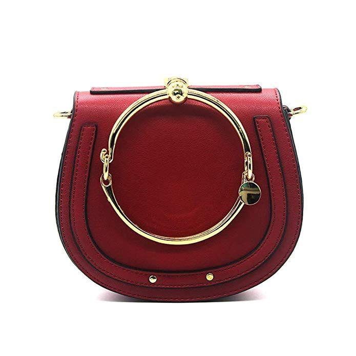 9992df730c72 Amazon.com: Yoome Women Punk Circular Ring Handle Handbags Small ...