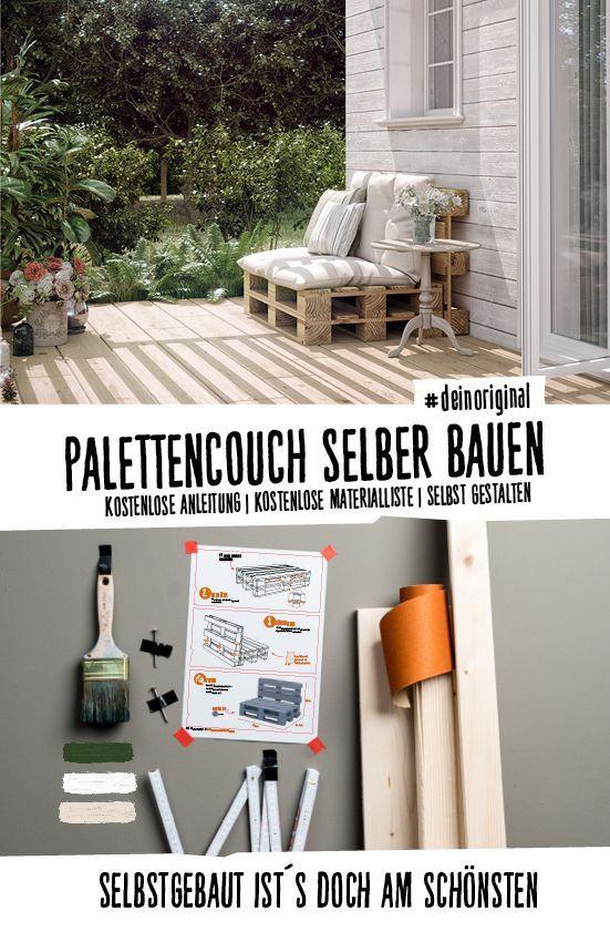 Couch Bankig Selber Bauen Palettenmöbel In 2019 Obi Wg Ideen