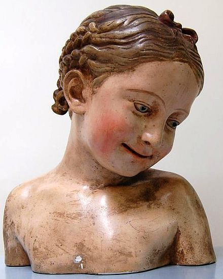 Antique Child Mannequin Bust