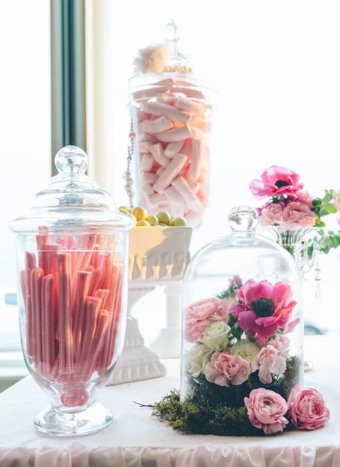 breast cancer table decorations sweet as spring dessert. Black Bedroom Furniture Sets. Home Design Ideas