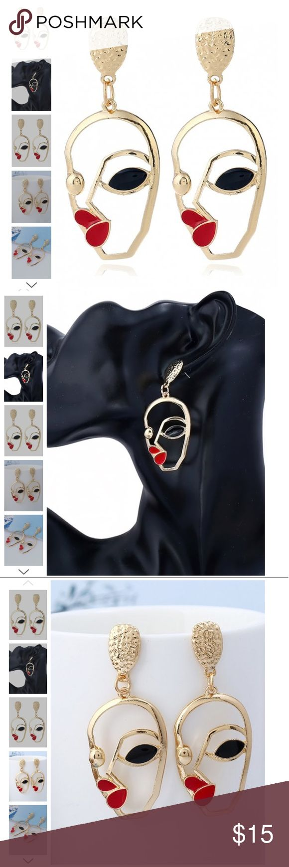 🌟🌟Top trendy earrings🌟🌟 Earring Type: Stud Earrings  Gender: For Girls,For Women  Metal Type: Alloy  Style: Gothic  Shape/Pattern: Face  Length: 6.2cm Jewelry Earrings