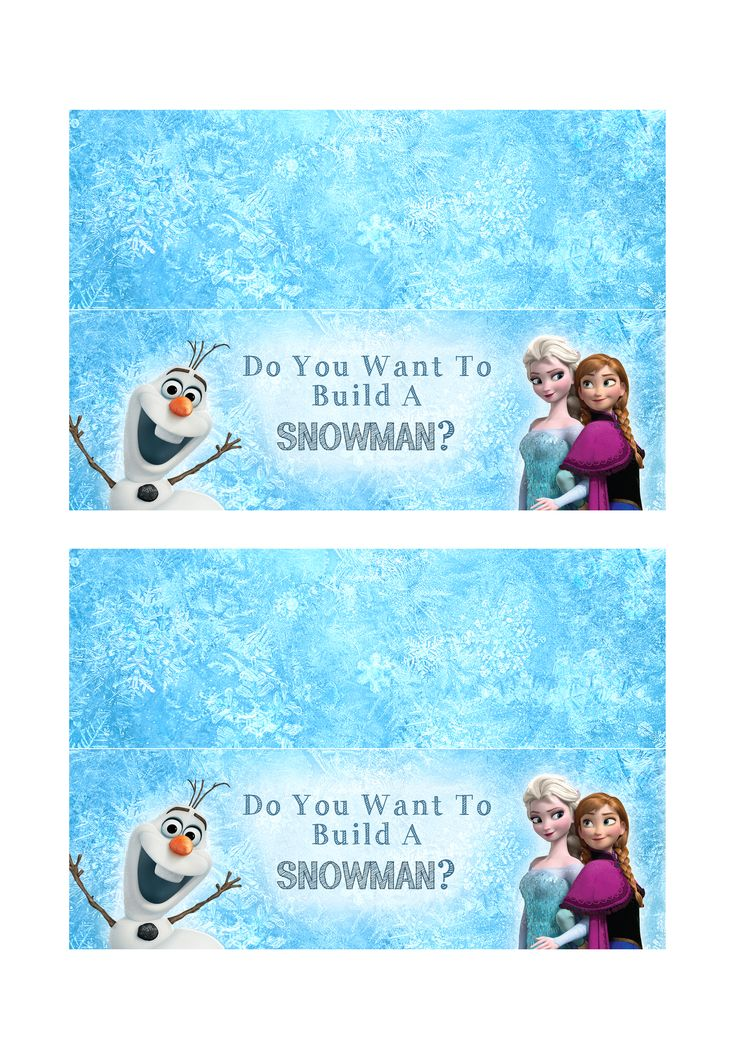 Do You Wanna Build A Snowman DIY Snowman Kit   Printable