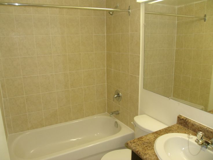 Renovated bathroom - large 1 bedroom