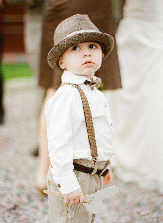 ring bearer. aww so cute!