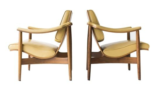 Modern Thonet Lounge Chairs  MidCentury Modern, Modern, Upholstery  Fabric, Wood, Lounge Chair by The Swanky Abode